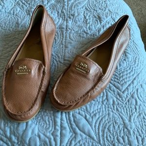 8.5 Coach Brown Leather Loafers